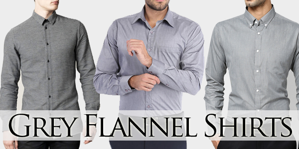 Grey flannel shirt