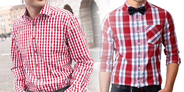 red checked shirt
