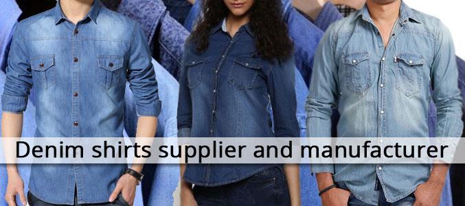Slim Fit Denim Shirts Manufacturer