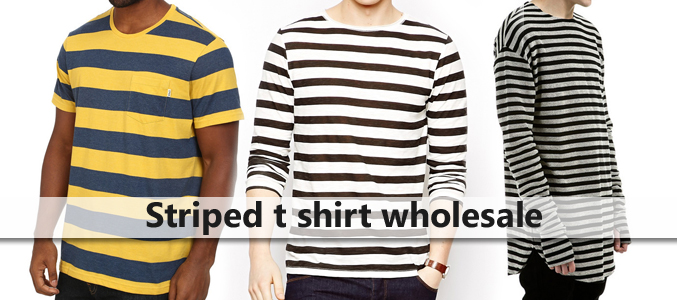 Striped T Shirt Wholesale Supplier