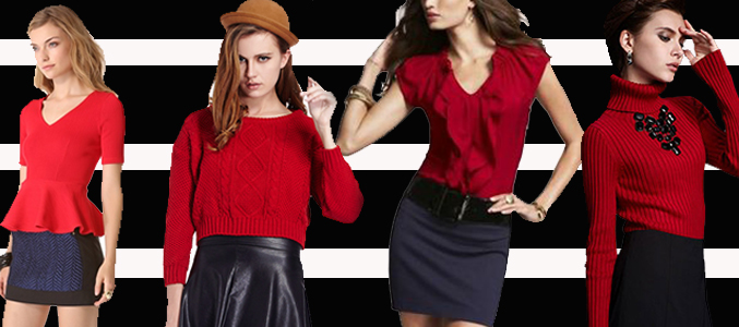 Ladies Red Tops Supplier