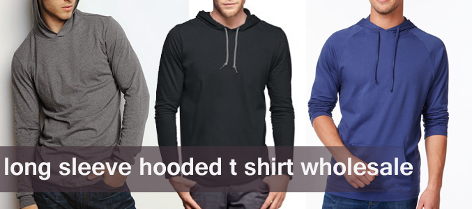 long sleeve hooded t shirt manufacturer