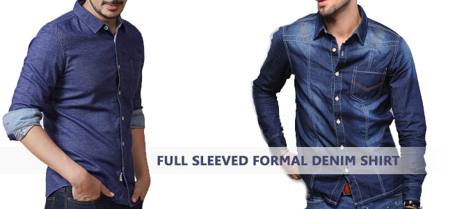 Formal Denim Shirt