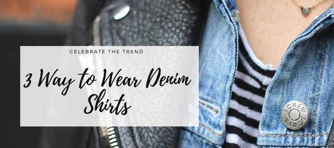 womens denim shirts