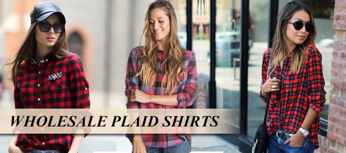 Flannel plaid shirt women