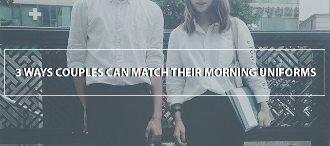 3 Ways Couples Can Match Their Morning Uniforms