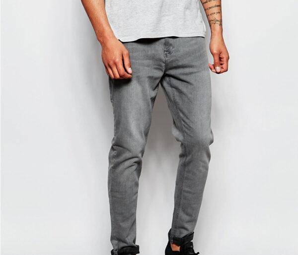 Wholesale Grey Men's Cool Denim Manufacturer