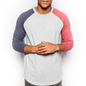 Wholesale Tricolor Raglan Men's Tee Manufacturer