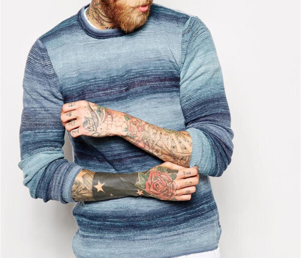 Wholesale Blue Faded Men's Tee Manufacturer