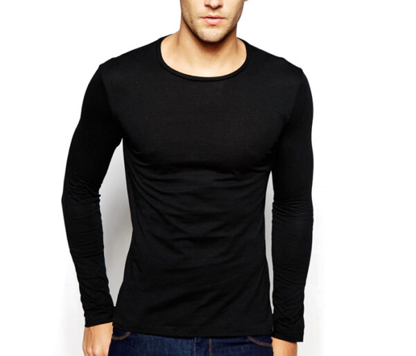Wholesale Plush Black Tee For Men Manufacturer
