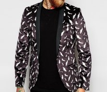 Wholesale Plush Feather Print Jacket Manufacturer