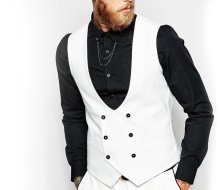 Wholesale Gentlemen's White Waist Coat Manufacturer