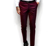 Wholesale Classy Maroon Men's Pants Manufacturer