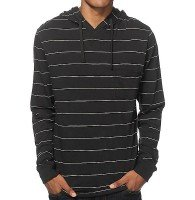 Wholesale Black Striped Hooded Shirt Manufacturer