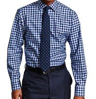 Blue And White Dotted Shirt Manufacturer