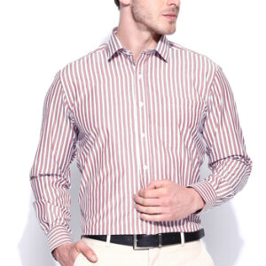 Wholesale Brown and White Pin Stripe Shirt Manufacturer
