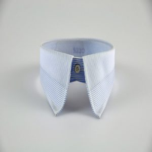 Buttoned Forward Point Collar