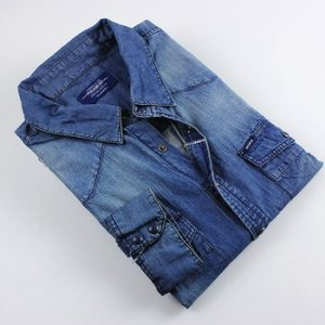 Collared Denim Shirt
