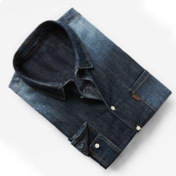 Wholesale Dark Wash Denim Shirts Supplier