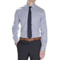Dark Blue Mens Checks Shirt Distributor