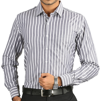 Wholesale Grey and White Striped Shirt Manufacturer