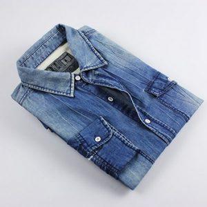 Indigo Blue Denim Shirt