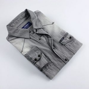 Light Ash Grey Denim Shirt