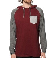 Wholesale Maroon Block Raglan Shirt Manufacturer