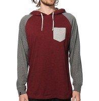 Wholesale Maroon Block Raglan Shirt Manufacturer