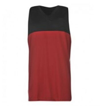 Wholesale Maroon and Black Block Tee Manufacturer