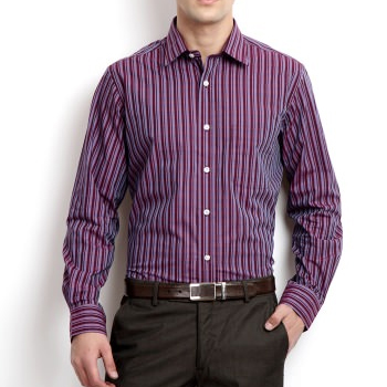 Wholesale Purple and Pink Striped Shirt Manufacturer