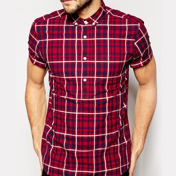 Wholesale Red and Blue checked Flannel Shirt Manufacturer