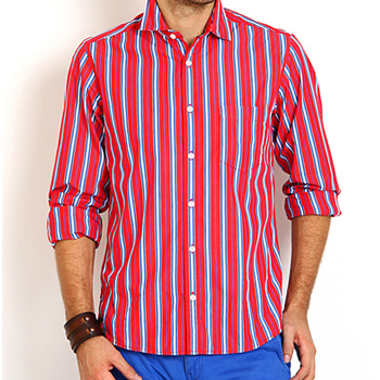 Wholesale Red and Grey Stripe Shirt Manufacturer