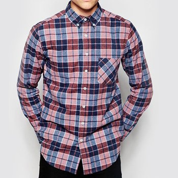 Wholesale Maroon Blue and Pink Check Flannel Shirt Manufacturer