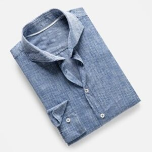 Slim-Fit Polka-Dot Cotton Linen-Blend Shirt