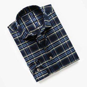 Slim-fit Bark Check Cotton Shirt