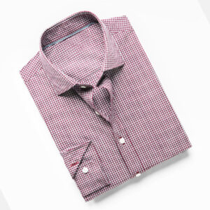 Slim-fit Gingham Purple Check Shirts