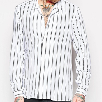 Wholesale White and Grey Striped Shirt Manufacturer