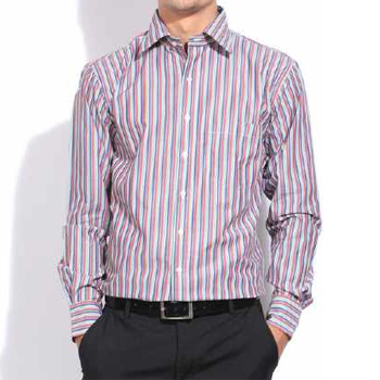 Wholesale White and Pin Stripe Burgundy Shirt Manufacturer