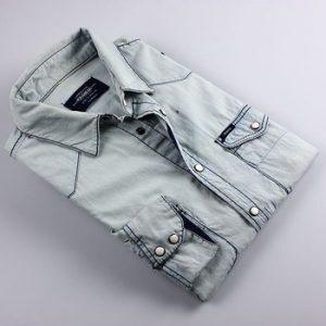 White-washed Denim Shirt