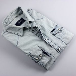 White-washed Denim Shirt