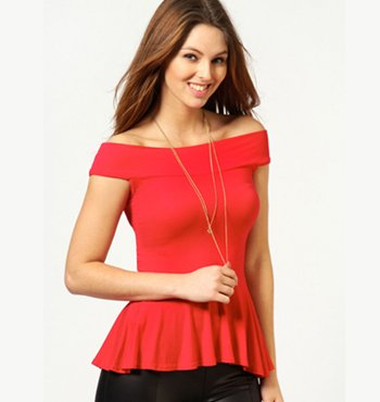 Wholesale Ladies Red Top Manufacturer