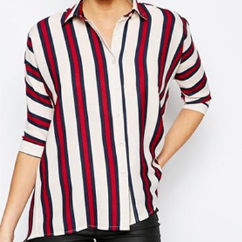 Wholesale Womens Red and White Striped Shirt Manufacturer