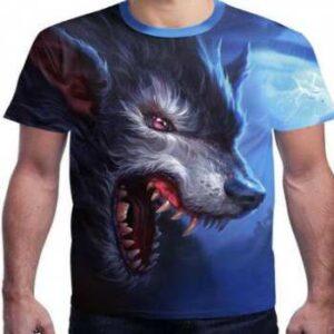 anger splatter wolf face 3d-t-shirts manufacturer