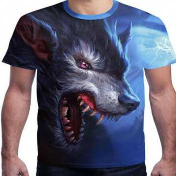 anger splatter wolf face 3d-t-shirts manufacturer