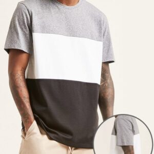 Wholesale anti-wrinkle colorblock tee shirt Manufacturer