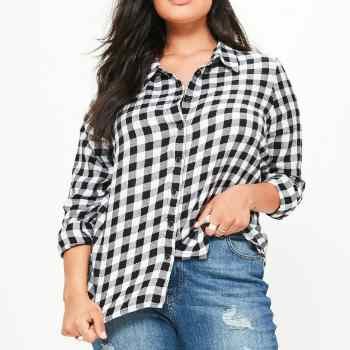 Wholesale Black and White Check Plus Shirts Manufacturer