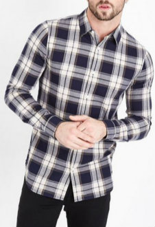 Black and White Checked Shirt Manufacturer