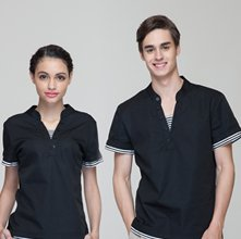 wholesale black uniform shirt set