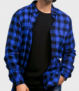 Blue Checked Shirt Manufacturer